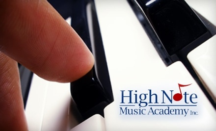 High Note Music Academy: 1 Month of Individual Lessons - High Note Music Academy in Ottawa