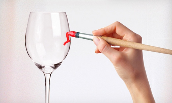 Let's Make Wine - Murfreesboro: $30 for a Wineglass-Painting Class for Two at Let's Make Wine in Murfreesboro ($70 Value)