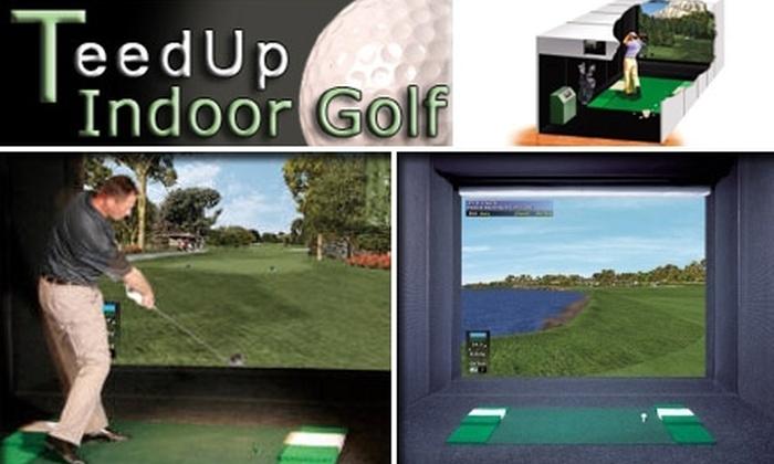 Teed Up Indoor Golf - Deer Creek: $15 for One Hour of Golf Simulator Time at Teed Up Indoor Golf