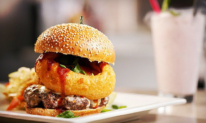 HBurgerCo - Multiple Locations: $6 for $12 Worth of Gourmet Burgers and Milk Shakes at HBurgerCo. Two Locations Available.