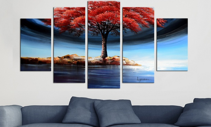 multipanel oil paintings groupon goods