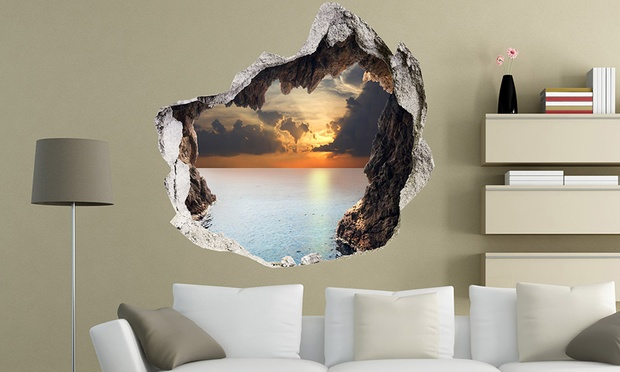 Amazing D Wall Decals Groupon Goods - 3d effect wall decals