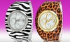 Golden Classic Women's Tangle Watch: Golden Classic Women's Tangle Watch in Leopard or Zebra Print. Free Shipping and Returns.