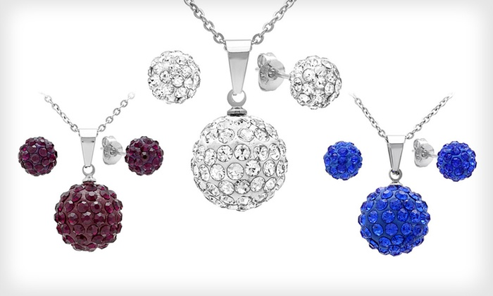 Fireball Earring and Necklace Set: $12 for a Fireball Earring and Necklace Set ($99.99 List Price). Multiple Colors Available. Free Returns.