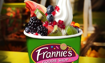 Three Groupons, Each Good for $10 Worth of Fro-Yo or Fro-Yo Party for Up to 10 at Frannie's Goodie Shop (50% Off)