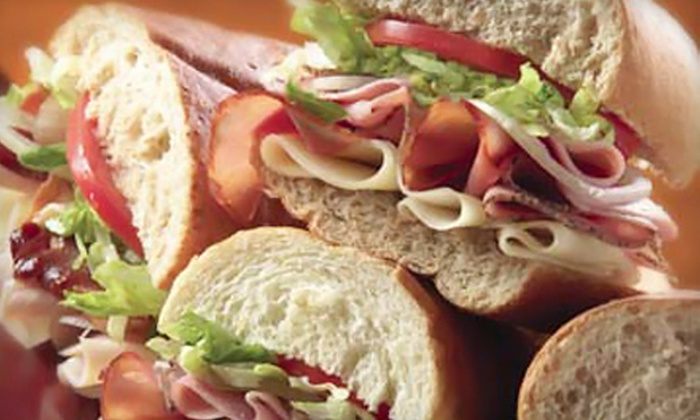 Jersey Mike's Subs - Morganville: $17 for Five Groupons, Each Good for One Regular-Size Sub at Jersey Mike's Subs (Up to $36.25 Value)