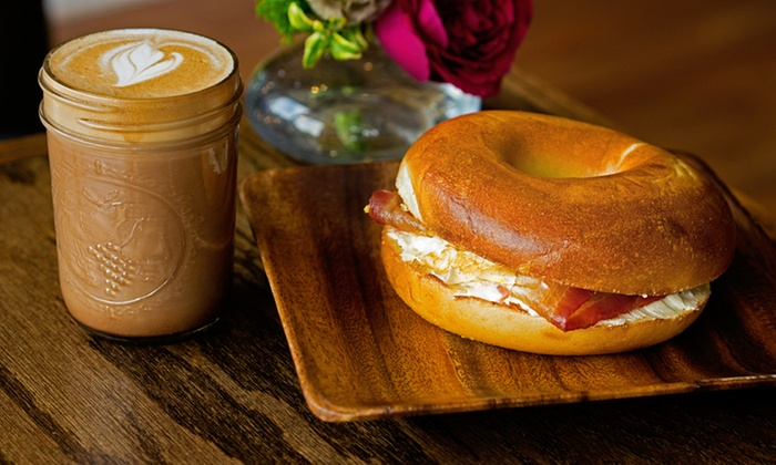 The Bagelers Coffeehouse - Lincoln Park: Bagels, Cream Cheese, Sandwiches, Coffee, and More at The Bagelers Coffeehouse (Up to 45% Off). Three Options.