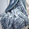 Lavish Home Plush Faux Mink Throws with Croc Embossing