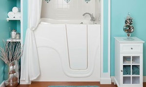 Liberty Bathing Walk-In Tubs: $1,925 for a White Lexington Walk-In Soaker Bathtub from Liberty Bathing Walk-In Tubs ($3,850 Value)