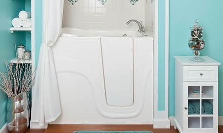 $1,925 for a White Lexington Walk-In Soaker Bathtub from Liberty Bathing Walk-In Tubs ($3,850 Value)