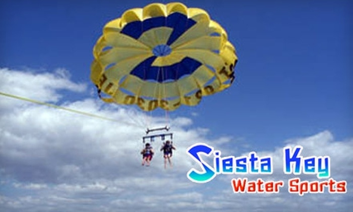 Siesta Key Watersports - Gulf Gate-Osprey: $40 for One Premium Parasailing Flight at Siesta Key Watersports (Up to $80 Value) in Sarasota
