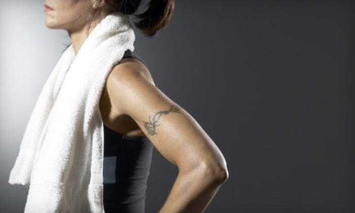 Totally Kickin' Fitness - Glastonbury: Gym Membership or Spray Tanning at Totally Kickin' Fitness in Glastonbury. Choose Between Two Options.