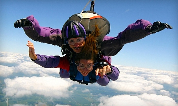 Air Indiana Skydiving Center - Delphi: Tandem Skydiving Jump for One or Two Passengers from Air Indiana Skydiving Center in Delphi (Up to 46% Off)