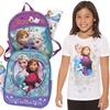 Disney Frozen Mini Backpack, Stickers, and Kid's T-shirt Bundle