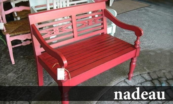 Nadeau - Hillside: $40 for $100 Worth of Home Furnishings at Nadeau
