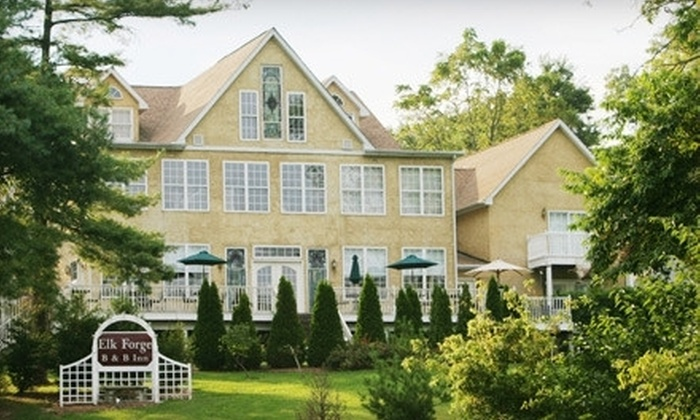 Elk Forge Bed and Breakfast Inn and Retreat - Elk Mills, MD: Two-Night Stay at Elk Forge Bed and Breakfast Inn and Retreat in Elkton (Up to Half Off). Four Options Available.