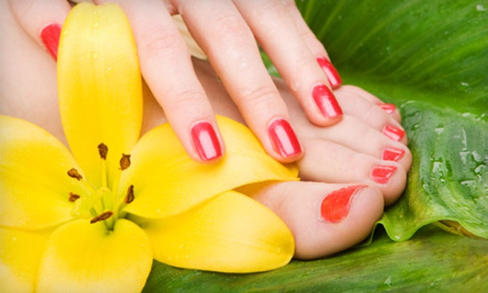 Infinity Spa and Salon - Fort Myers: Spa Mani-Pedi or Shellac Manicure and Spa Pedicure at Infinity Spa and Salon (Up to 60% Off)