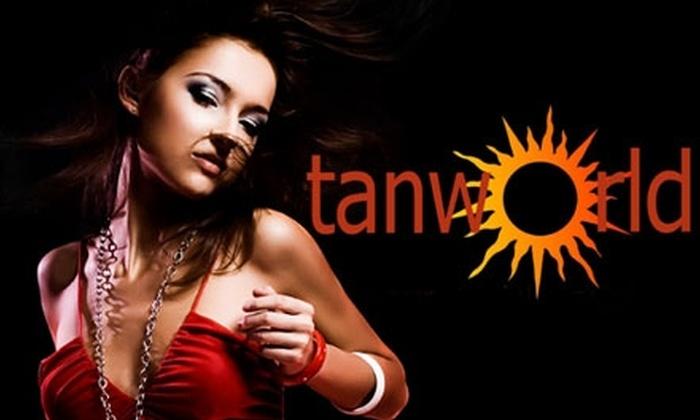 Tanworld - Sioux Falls: $10 for One Matrix Level-Four Session, One Mystic Spray Tan, or 50 Inclusive Minutes on the Santa Barbara and Del Rey Beds at Tanworld (Up to $35 Value)