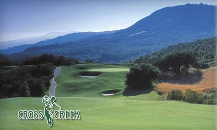 CrossCreek Golf Club - Murrieta: $65 for 18 Holes of Golf for Two, Two Buckets of Range Balls, and a Cart at CrossCreek Golf Club in Temecula (Up to $148 Value)
