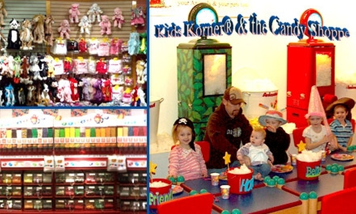 "Kids Korner & The Candy Shoppe - Multiple Locations: $35 for a ""Stuff Your Animal"" Package at Kids Korner & The Candy Shoppe ($83 Value)"