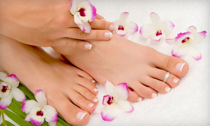 Salon Soleil Nails & Spa - Hazlet: Basic- or Spa-Mani-Pedi Package with a Silk-Oil Treatment at Salon Soleil Nails & Spa in Hazlet (Up to 58% Off)