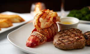 Pampas Brazilian Grille: Brazilian Surf 'n' Turf Lunch or Dinner  for Two at Pampas Brazilian Grille (Up to 37% Off)