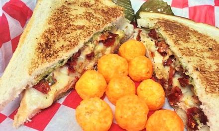 Family owned gourmet Grilled Cheese and Casual American Food for Dinner or Lunch at Cheese Louise(Up to 47% Off)