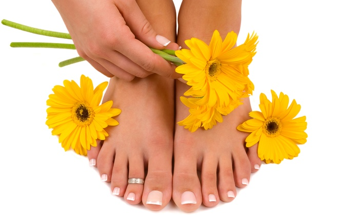 Dalla Nails and Spa - Westford: Spa Manicure and Hot Stone Pedicure or One or Two Gel Mani-Pedis at Dalla Nails and Spa (Up to 56% Off)