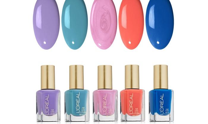 L'Oreal Spring Runway Nail Polish Color Set (5-Piece) | Groupon