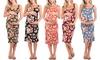 Women's Maternity Ruched Tank Dress: Women's Maternity Ruched Tank Dress