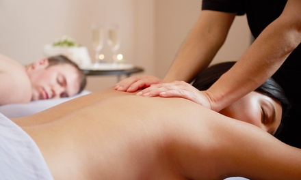 $129 for 90-Minute Swedish Couples Massage with Champagne and Appetizers at Massage Bliss Now ($300 Value)