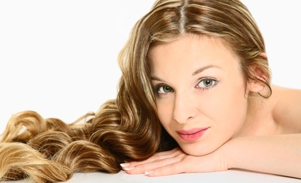 Haircut with Condition, Highlights, or Low-Lights at Permanent Great Looks Salon & Spa (Up to 55% Off)