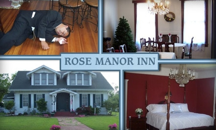 Rose Manor Inn and Spa - Wills Point: $99 for a Murder-Mystery Performance, Five-Course Dinner, One-Night Stay, and Breakfast for Two at the Rose Manor Inn and Spa ($220 Value)