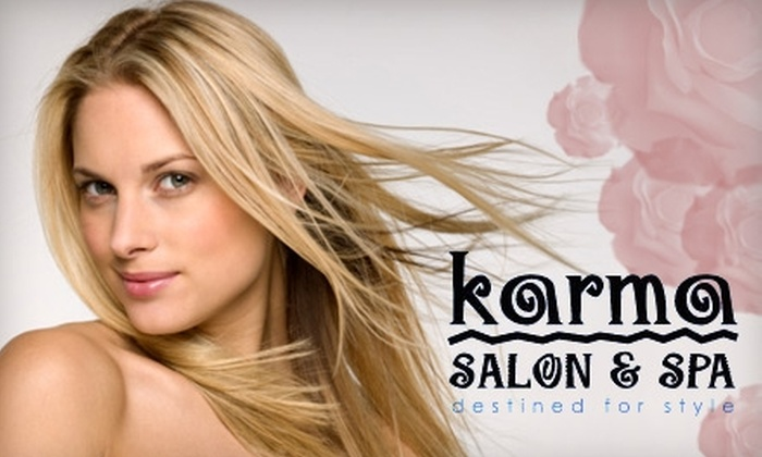 Karma Salon & Spa - Buford: $50 for a Choice Between Two Sweetheart Special Packages at Karma Salon & Spa (Up to $120 Value)