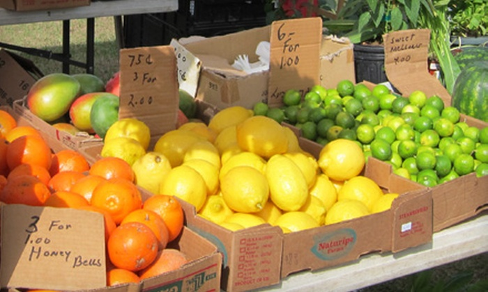 City of Parkland Farmer's Market - Parkland: $10 for $20 Worth of Fresh Produce, Baked Goods, and Locally Sourced Fare at City of Parkland Farmer's Market