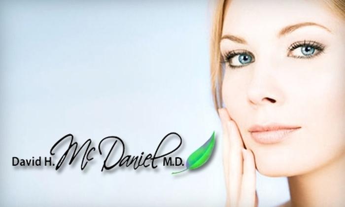 David H. McDaniel, M.D. Laser & Cosmetic Center - Northwest Virginia Beach: $49 for Four GentleWaves Facial Rejuvenation Treatments at the David H. McDaniel, M.D. Laser & Cosmetic Center ($486 Value)