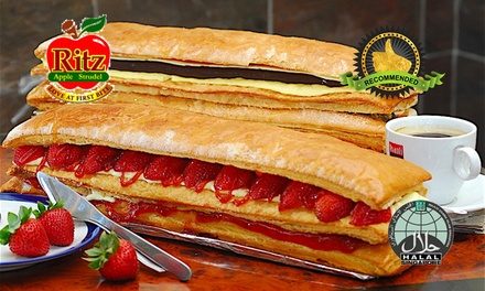 $25 for a 15 Chocolate Strudel Loaf from Ritz Apple Strudel (worth $30.50) at 15 Outlets. More Options Available
