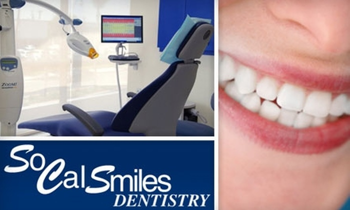 SoCal Smiles - Multiple Locations: $179 for a One-Hour ZOOM! Teeth-Whitening Service at SoCal Smiles ($400 Value)