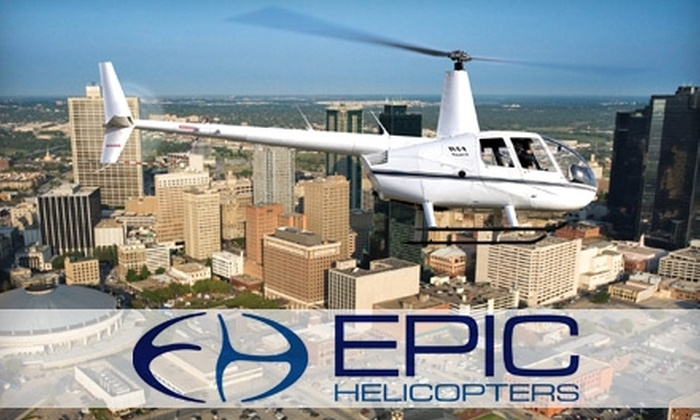 Epic Helicopters - Fort Worth: $129 for a 15-Minute City South Tour for Up to Three People from Epic Helicopters ($212.50 Value)