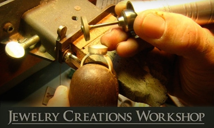 Jewelry Creations Workshop - Upper East Side: $30 for One Three-Hour Beginning to Intermediate Fabrication Class at Jewelry Creations Workshop ($65 Value)