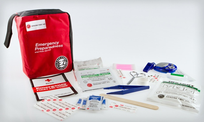 Genuine First Aid Kit - 167 Pieces: $17 for a 167-Piece Genuine First Aid Kit ($32.95 List Price). Free Shipping.
