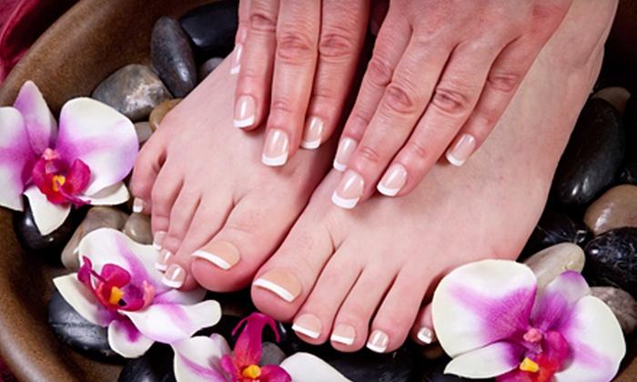 Rejuve Nail & Skin Day Spa - Philadelphia: French Mani-Pedi, or Spa Mani with Options for Hot Stone Pedi or Spa Mani with Facial and Massage at Rejuve Nail & Skin Day Spa (Up to 54% Off)