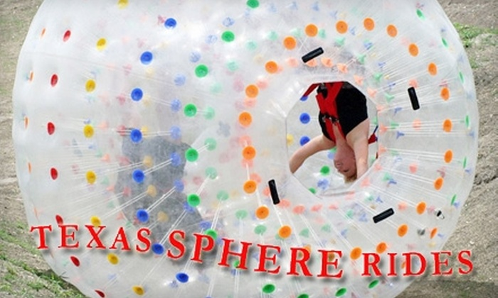 Texas Sphere Ride - New Braunfels: $21 for Two Sphere Rides + 10% off a Helicopter Tour That Day at Texas Sphere Ride in New Braunfels
