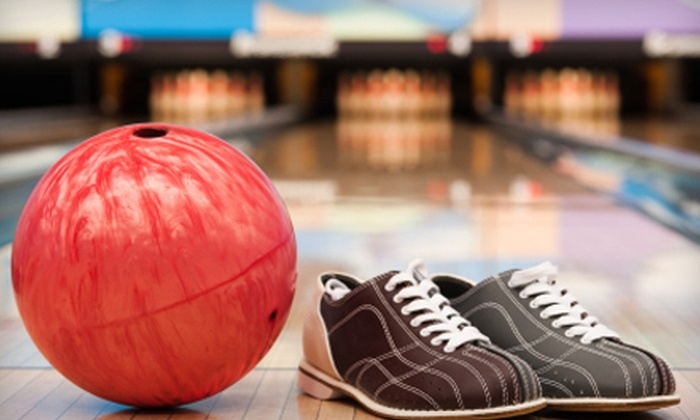 Golden Pin Lanes - Flowing Well Neighborhood: Two- or Three-Hour Bowling Outing for Up to Six with Shoe Rental and Popcorn at Golden Pin Lanes (Up to 55% Off)
