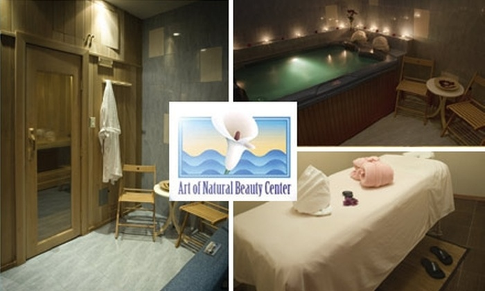 Art of Natural Beauty - Boerum Hill: $59 for Your Choice of Rejuvenating Body Scrub or Glow Plus Vichy Shower Treatment and 30 Minutes in the Sauna and Jacuzzi at Art of Natural Beauty ($160 Value)