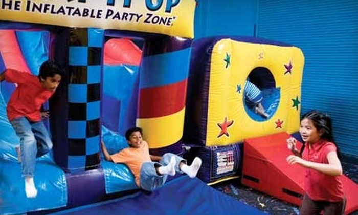 Pump It Up - Peabody: $25 for 10 Pop-In Visits at Pump It Up Inflatable Party Zone ($80 Value) in Peabody