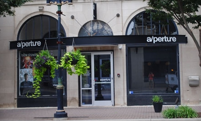 a/perture cinema - Downtown Winston-Salem: $15 for Two Tickets, Two Large Sodas, and Two Large Popcorns at a/perture cinema (Up to $33 Value)