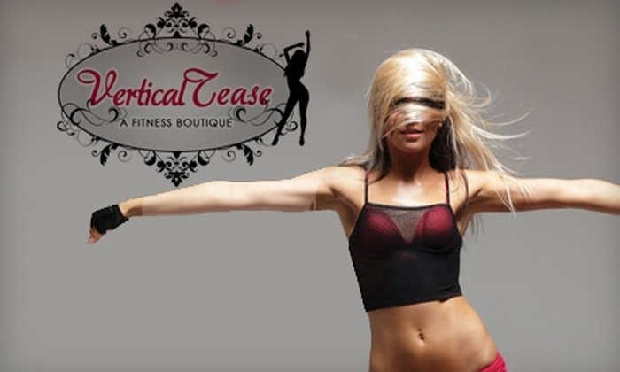 Vertical Tease a Fitness Boutique - Durham: $24 for Six Pole Diva 101, Zumba, Aerobics, or Belly-Dancing Classes at Vertical Tease a Fitness Boutique in Durham (Up To A $75 Value)