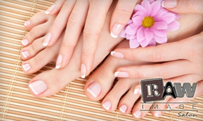 Raw Image Salon - Layton: $22 for a Manicure and Rockstar Toes at Raw Image Salon ($50 Value)