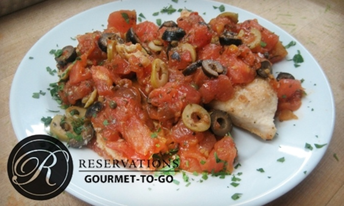 Reservations Gourmet-To-Go - Southeast Seminole Heights: $12 for $25 Worth of Dine-In or Ready-Made Meals to Go at Reservations Gourmet-To-Go